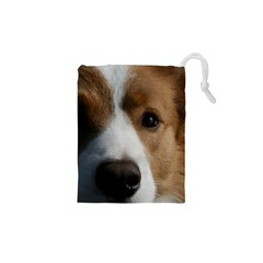 Red Border Collie Drawstring Pouches (XS)
