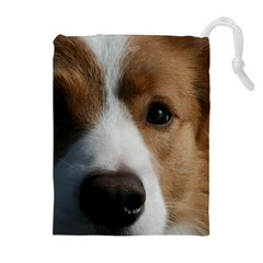 Red Border Collie Drawstring Pouches (Extra Large)