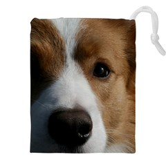 Red Border Collie Drawstring Pouches (XXL)