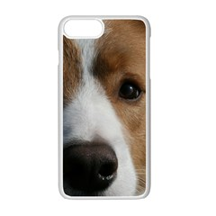 Red Border Collie Apple iPhone 7 Plus White Seamless Case