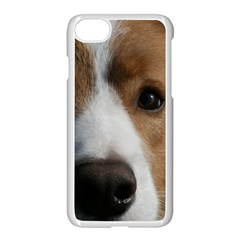 Red Border Collie Apple iPhone 7 Seamless Case (White)
