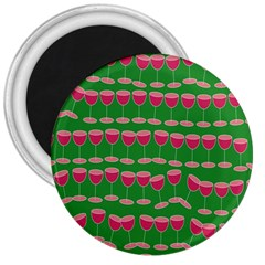 Wine Red Champagne Glass Red Wine 3  Magnets