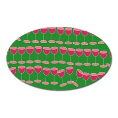 Wine Red Champagne Glass Red Wine Oval Magnet