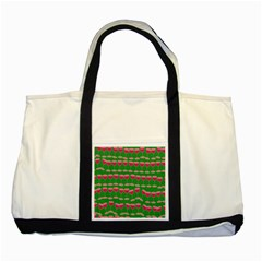 Wine Red Champagne Glass Red Wine Two Tone Tote Bag
