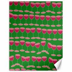 Wine Red Champagne Glass Red Wine Canvas 12  x 16