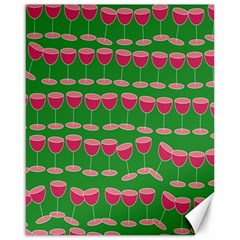 Wine Red Champagne Glass Red Wine Canvas 16  x 20