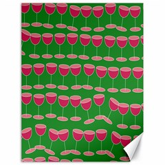 Wine Red Champagne Glass Red Wine Canvas 18  x 24