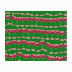 Wine Red Champagne Glass Red Wine Small Glasses Cloth (2-Side)