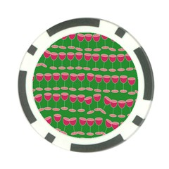 Wine Red Champagne Glass Red Wine Poker Chip Card Guard