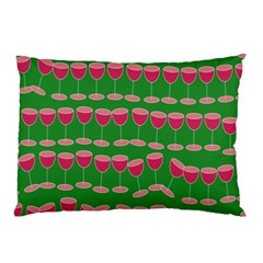 Wine Red Champagne Glass Red Wine Pillow Case