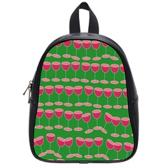 Wine Red Champagne Glass Red Wine School Bags (Small)