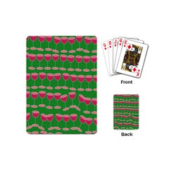 Wine Red Champagne Glass Red Wine Playing Cards (Mini)
