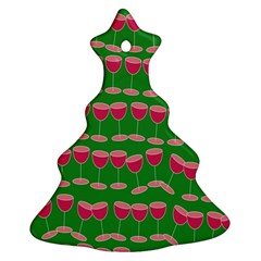 Wine Red Champagne Glass Red Wine Ornament (christmas Tree)