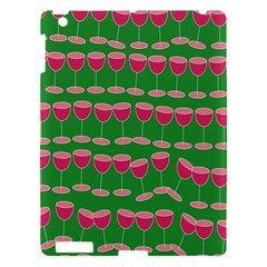 Wine Red Champagne Glass Red Wine Apple iPad 3/4 Hardshell Case
