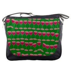 Wine Red Champagne Glass Red Wine Messenger Bags
