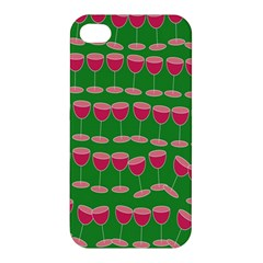 Wine Red Champagne Glass Red Wine Apple iPhone 4/4S Premium Hardshell Case