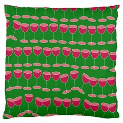 Wine Red Champagne Glass Red Wine Large Cushion Case (One Side)