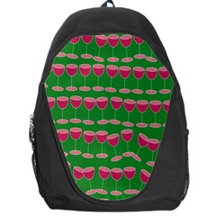 Wine Red Champagne Glass Red Wine Backpack Bag