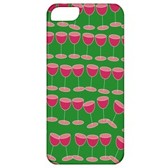 Wine Red Champagne Glass Red Wine Apple iPhone 5 Classic Hardshell Case