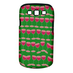 Wine Red Champagne Glass Red Wine Samsung Galaxy S III Classic Hardshell Case (PC+Silicone)
