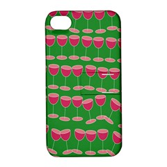 Wine Red Champagne Glass Red Wine Apple Iphone 4/4s Hardshell Case With Stand