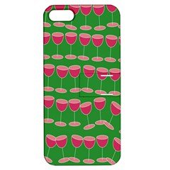 Wine Red Champagne Glass Red Wine Apple iPhone 5 Hardshell Case with Stand