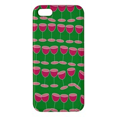 Wine Red Champagne Glass Red Wine Apple Iphone 5 Premium Hardshell Case