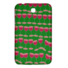 Wine Red Champagne Glass Red Wine Samsung Galaxy Tab 3 (7 ) P3200 Hardshell Case