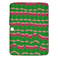 Wine Red Champagne Glass Red Wine Samsung Galaxy Tab 3 (10.1 ) P5200 Hardshell Case
