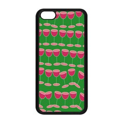 Wine Red Champagne Glass Red Wine Apple iPhone 5C Seamless Case (Black)