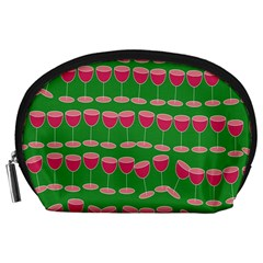 Wine Red Champagne Glass Red Wine Accessory Pouches (Large)