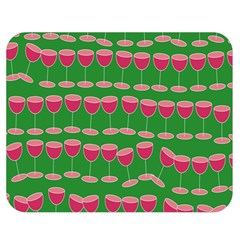 Wine Red Champagne Glass Red Wine Double Sided Flano Blanket (Medium)