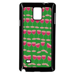 Wine Red Champagne Glass Red Wine Samsung Galaxy Note 4 Case (Black)