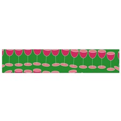 Wine Red Champagne Glass Red Wine Flano Scarf (Small)