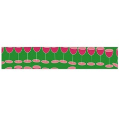 Wine Red Champagne Glass Red Wine Flano Scarf (large)