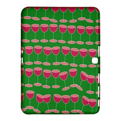 Wine Red Champagne Glass Red Wine Samsung Galaxy Tab 4 (10.1 ) Hardshell Case