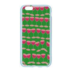 Wine Red Champagne Glass Red Wine Apple Seamless iPhone 6/6S Case (Color)