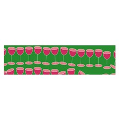 Wine Red Champagne Glass Red Wine Satin Scarf (Oblong)