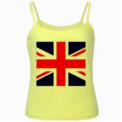 Union Jack Flag Yellow Spaghetti Tank
