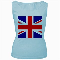 Union Jack Flag Women s Baby Blue Tank Top