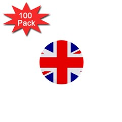 Union Jack Flag 1  Mini Buttons (100 pack)