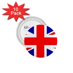 Union Jack Flag 1 75  Buttons (10 Pack)