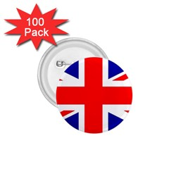 Union Jack Flag 1 75  Buttons (100 Pack)