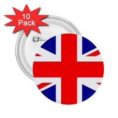 Union Jack Flag 2.25  Buttons (10 pack)