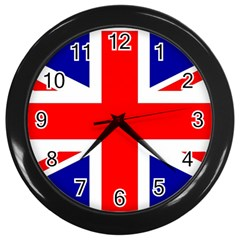 Union Jack Flag Wall Clocks (black)