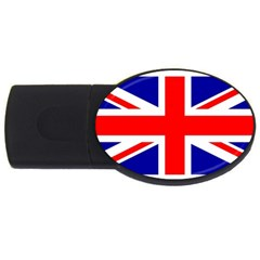 Union Jack Flag USB Flash Drive Oval (1 GB)