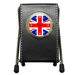 Union Jack Flag Pen Holder Desk Clocks