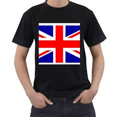 Union Jack Flag Men s T-Shirt (Black) (Two Sided)