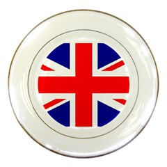 Union Jack Flag Porcelain Plates