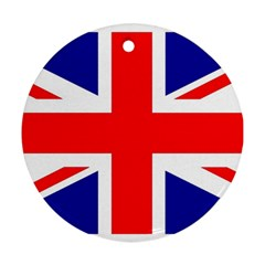 Union Jack Flag Round Ornament (Two Sides)